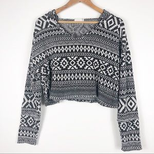 Out from under | Cropped Tribal Print Hoodie